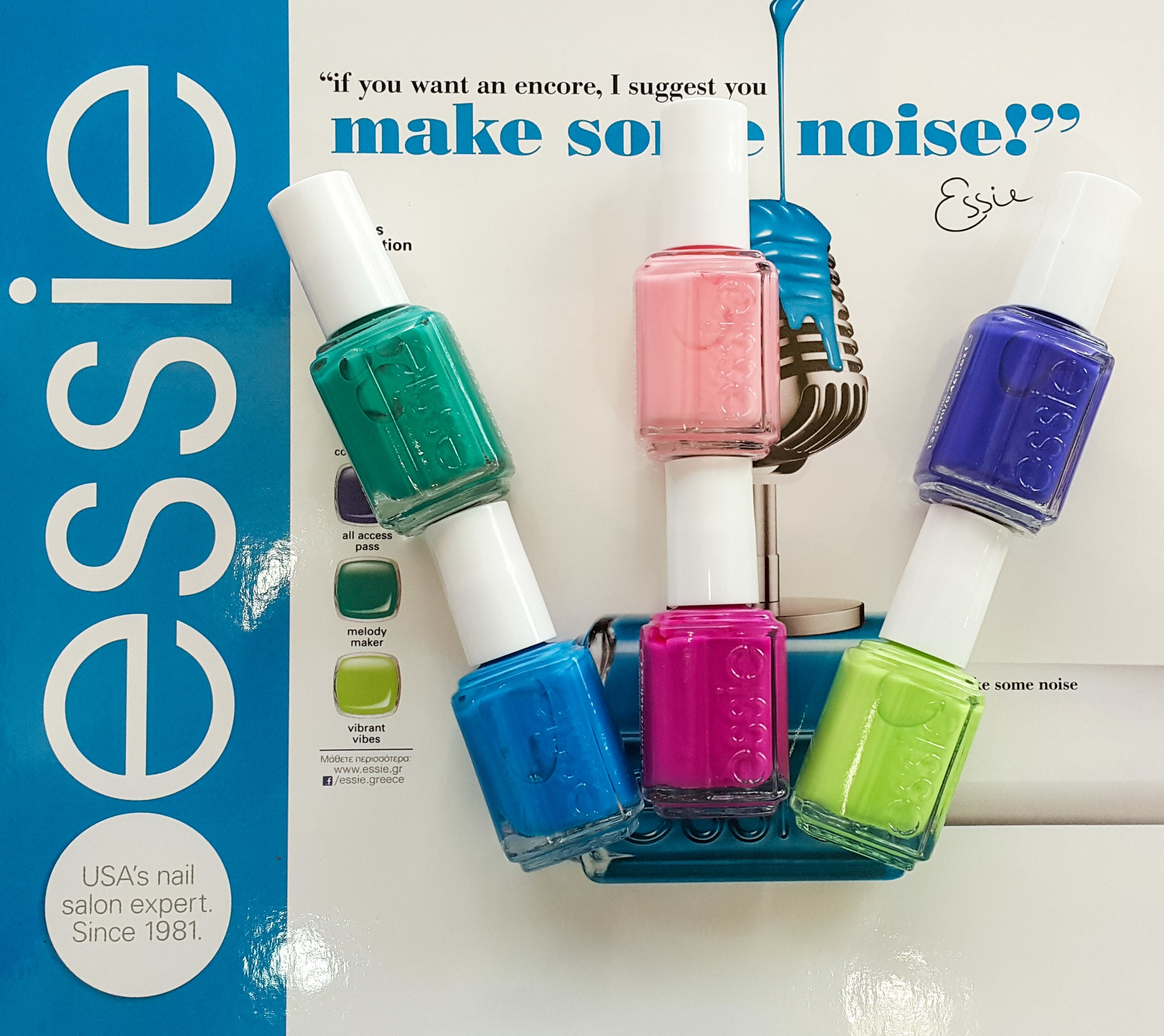 "Βερνίκια ESSIE ""neons"" 2015 - Happy Nails"